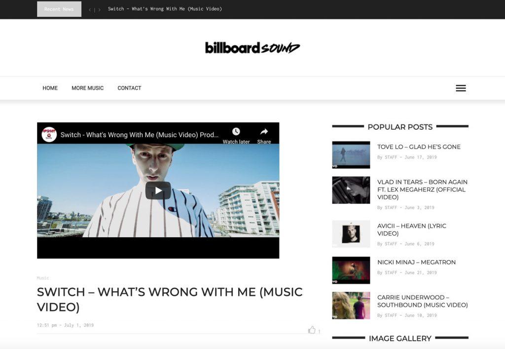 Switch Billboard Blog Video Promotion
